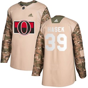 Men's Adidas Ottawa Senators Dominik Hasek Camo Veterans Day Practice Jersey - Authentic